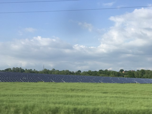 Solar farm by railway line