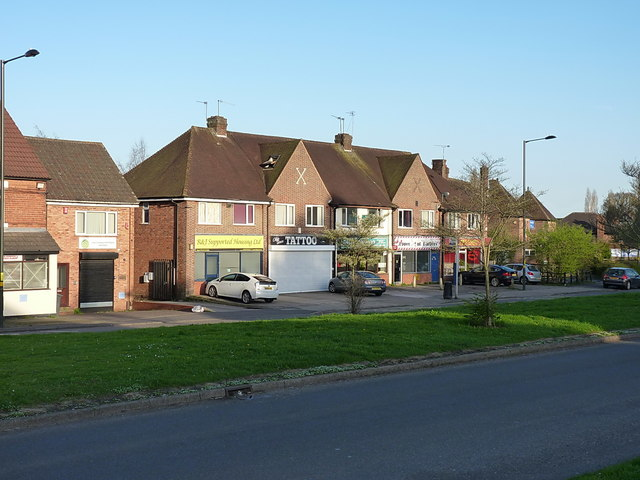 Shops on Priory Road in Yardley Wood