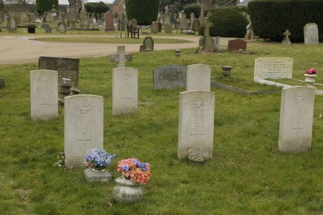 Six war graves