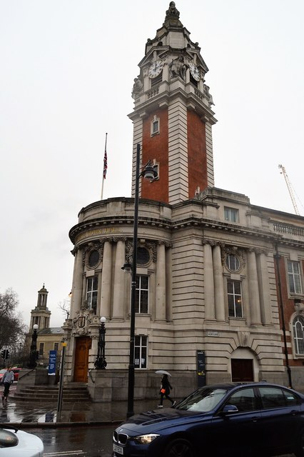 Clock tower, Lambeth Town Hall
