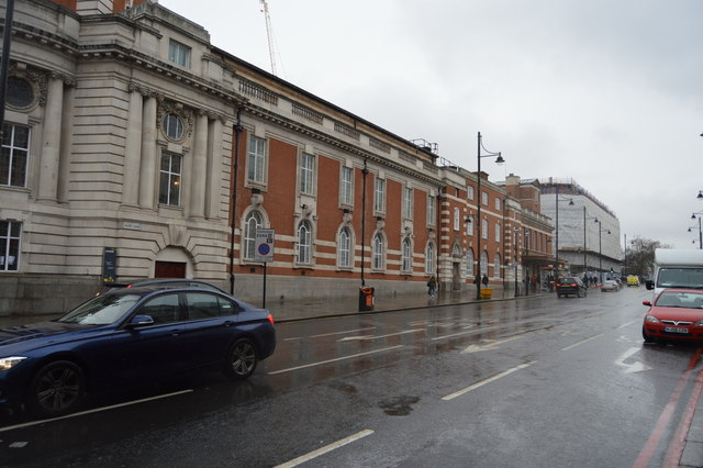Lambeth Town Hall and Acre Lane