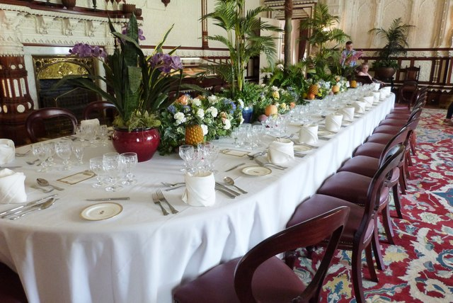 The State Dining Table, Osborne House, Isle of Wight