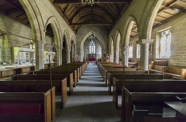 Interior, St Peter's church, Langtoft