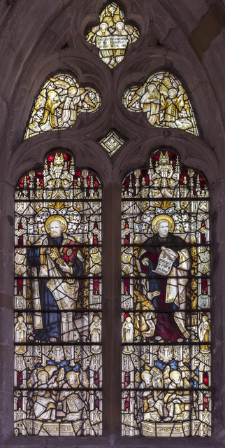 Stained glass window, St Peter's church, Langtoft