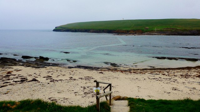 Flooded causeway to the Brough of Birsay
