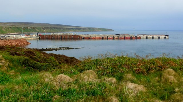 The pier at Gills Bay
