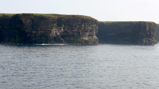 Cliffs on north west Stroma coast