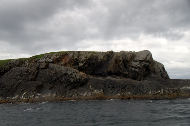 Cliff on Isbister Holm, Whalsay