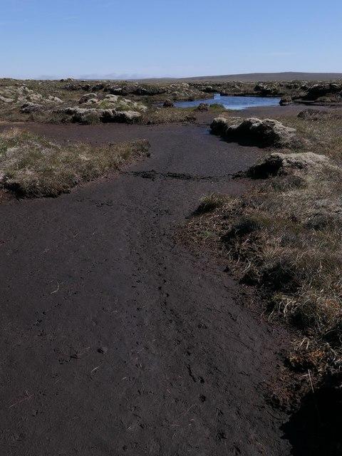 Exposed peat below Earsal, Isle of Lewis