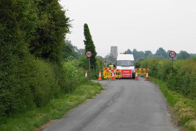 Road closure near Elmstone Hardwicke