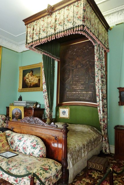 Queen Victoria's bed, Osborne House, Isle of Wight