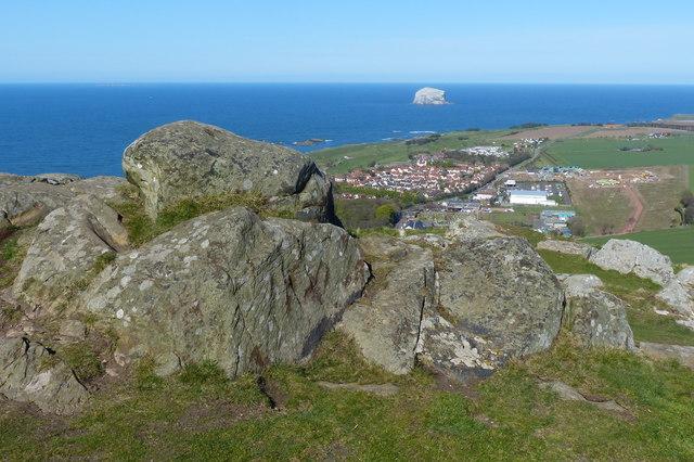 Rocks on the summit of North Berwick Law