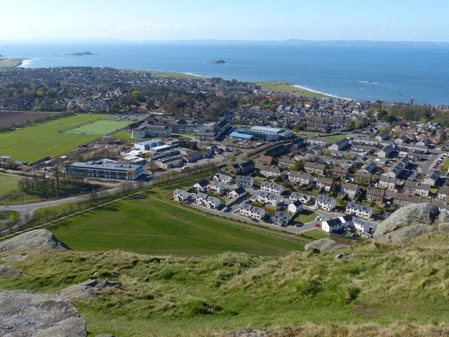 North Berwick from the summit of North Berwick Law