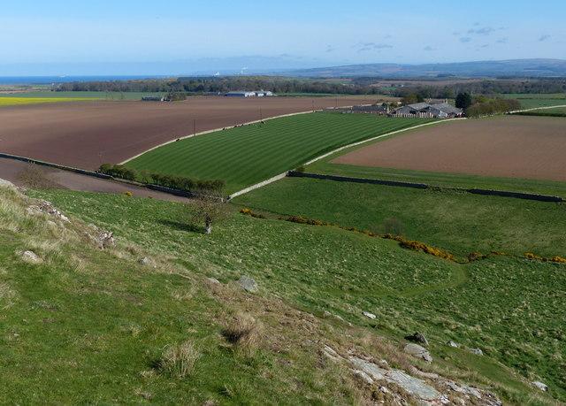 Farmland south of North Berwick Law