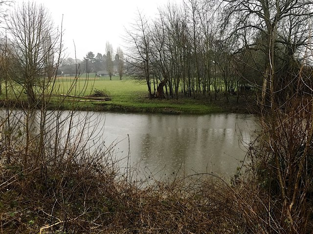 River Avon in the pouring rain, east Warwick