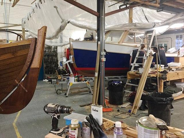 Boat-building workshop, Lyme Regis
