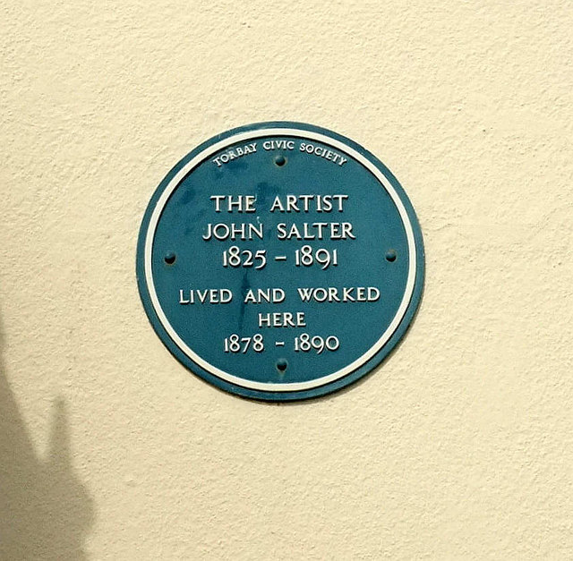 Blue plaque, The Terrace, Torquay