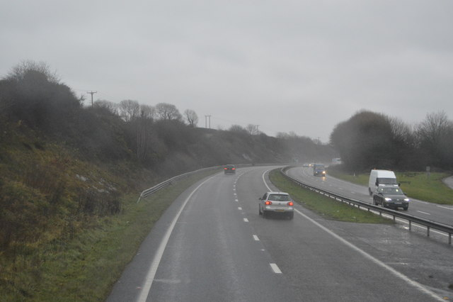 A wet day on the A38