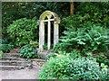 TG2208 : The Plantation Garden - church window by Evelyn Simak