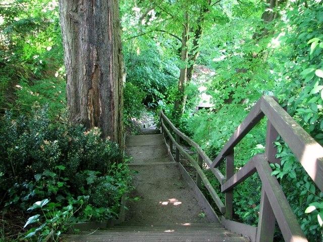The Plantation Garden - steep steps