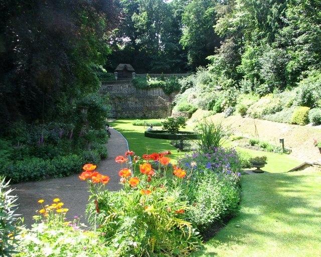 Flower beds in the Plantation Garden
