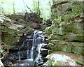 NZ0749 : Close up of the waterfall at Wharnley Burn by Robert Graham