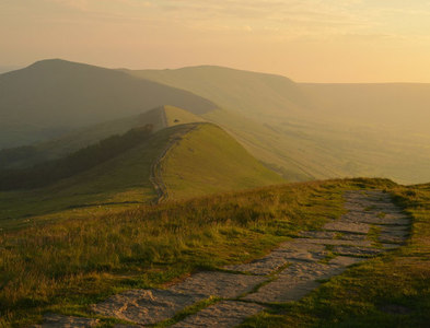 SK1585 : Mam Tor Ridge from Lose Hill, Derbyshire by Andrew Tryon