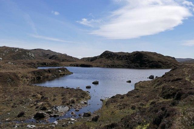 Lochan on moorland below Bulabhall, Harris
