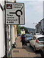 SO5112 : Directions sign, St James Street, Monmouth by Jaggery