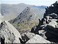 SH6659 : Tryfan from the top of Bristly Ridge by Chris Andrews