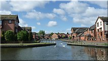SO9691 : Tividale Quays Basin, from the Old Main Line by Christine Johnstone
