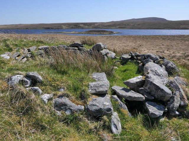 Shieling hut by Loch Urabhal, Isle of Lewis