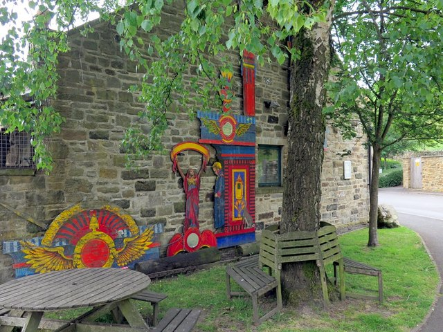 Wall murals, Place Hill, Reeth