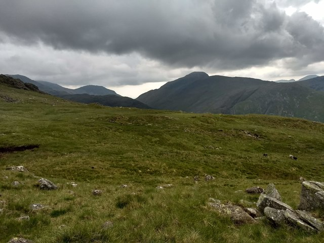 Looking towards Great Gable and Green Gable
