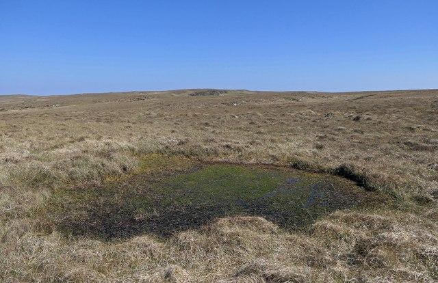 Bog on moorland below Beinn nan Surrag, Isle of Lewis