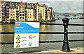 J3473 : Water-safety notice, Laganside Walkway, Belfast (June 2018) by Albert Bridge