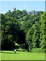 SU8294 : West Wycombe Hill viewed from West Wycombe Park by Steve Daniels