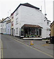 SY3492 : Milliner's shop in Coombe Street, Lyme Regis by Jaggery
