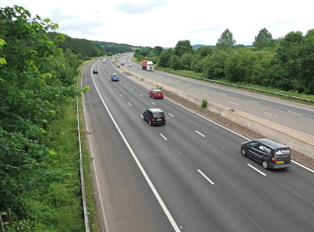 Bradninch: M5 Motorway in the Culm valley