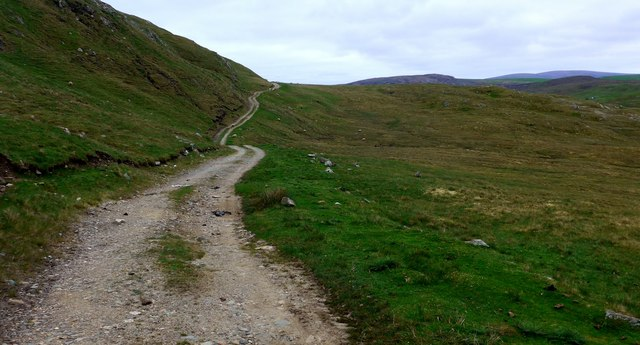 The track to Benigarth and Sand Voe