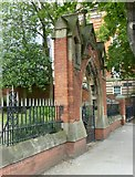 SK5640 : Church of The Virgin Mary Eleousa, Derby Road – gateway by Alan Murray-Rust