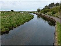 NT6578 : Biel Water at West Barns by Mat Fascione