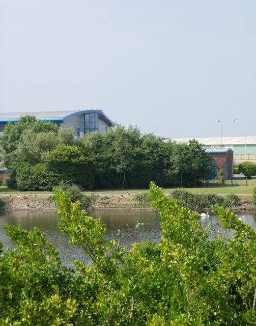 View across a reservoir