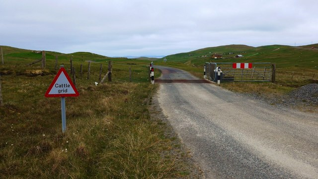Cattle grid on the A970 to Urrafirth