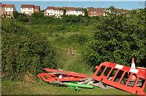 SX9066 : Barriers by Browns Bridge Road by Derek Harper