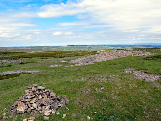 Remains of lead mining of Hind Rake Vein