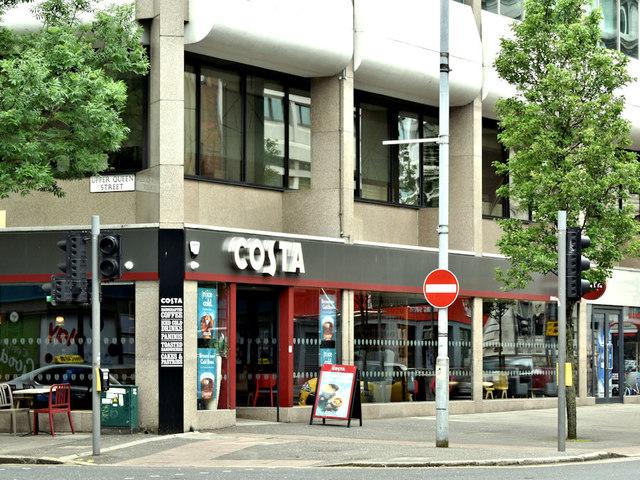Costa Coffee Wellington Place Belfast Albert Bridge
