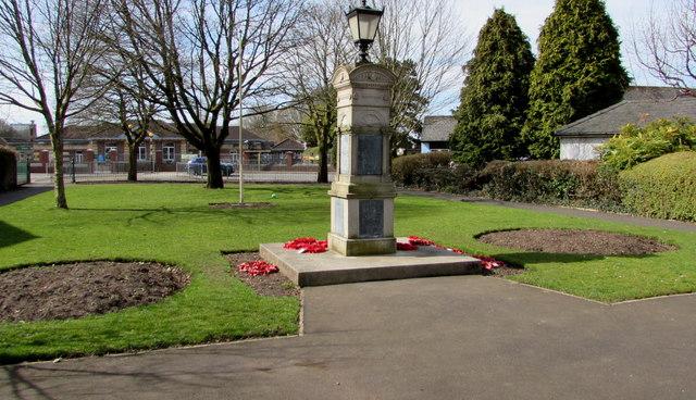 North side of Caerleon War Memorial