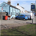ST3390 : Goldcroft Common traffic signs near the Goldcroft pub, Caerleon by Jaggery