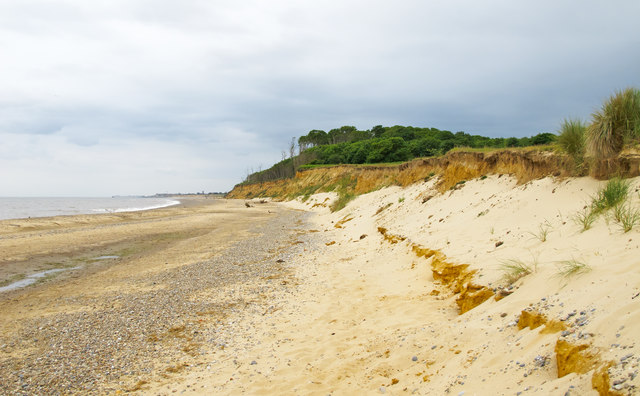 Cliffs at Covehithe